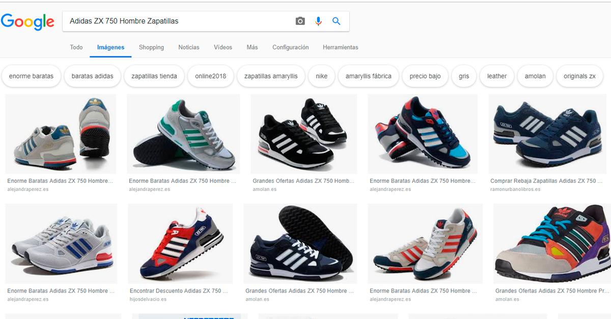 Fatal curva Almacén  Cómo asegurarte que no te timan cuando compras online?, el caso de las Adidas  ZX 750 - Posicionamiento Web Huelva | SEO en buscadores